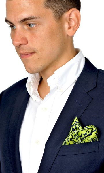 Action Against Hunger Pocket Scarf - lime/navy