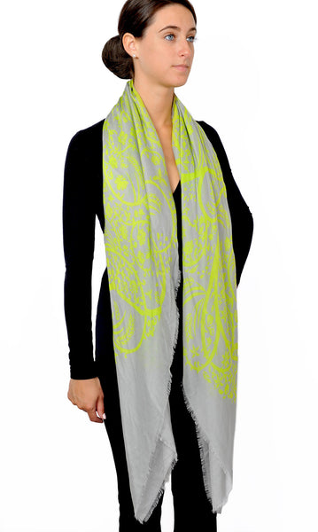 Action Against Hunger pashmina scarf - lime
