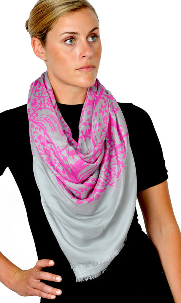 Action Against Hunger pashmina scarf - magenta