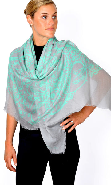 Action Against Hunger pashmina scarf - teal