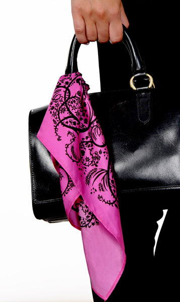 Action Against Hunger Ty Scarf - magenta/black
