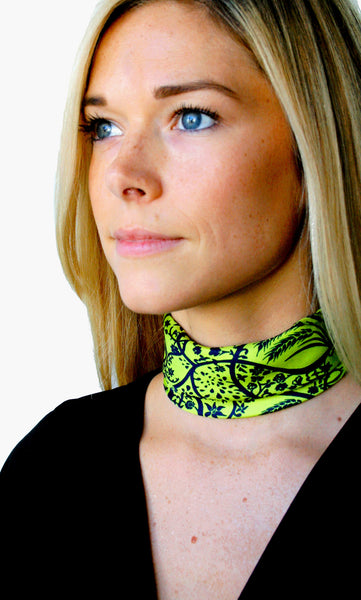 Action Against Hunger Ty Scarf - lime/navy