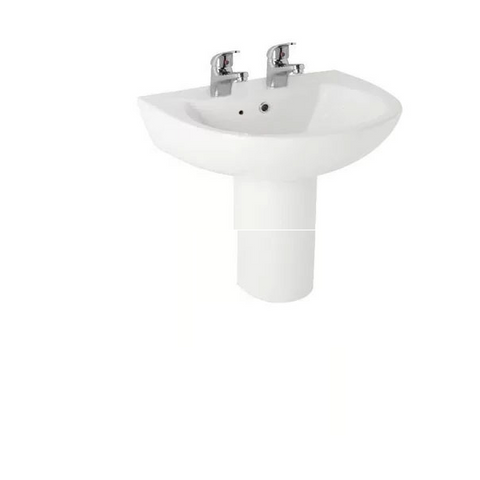 Kartell K-Vit G4K 545mm 2TH Basin & Semi Pedestal