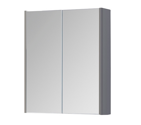 Kartell K-Vit Options 500mm Mirror Cabinet - Basalt Grey