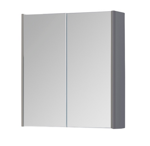 Kartell K-Vit Options 600mm Mirror Cabinet - Basalt Grey