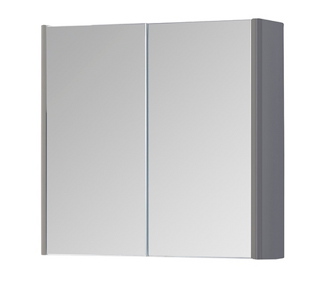 Kartell K-Vit Options 800mm Mirror Cabinet - Basalt Grey