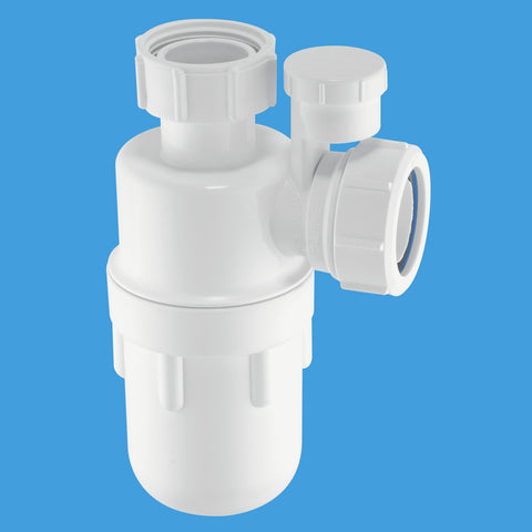 "McAlpine A10V Seal Bottle P-Trap Anti Syphon 1.1/4"" x 75mm - Kent Plumbing Supplies"