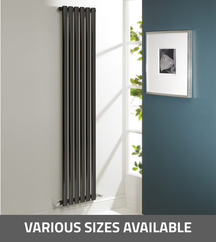Kartell K-Rad Aspen Vertical Single Radiator - Anthracite