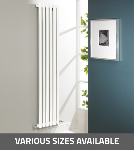 Kartell K-Rad Aspen Vertical Single Radiator - White