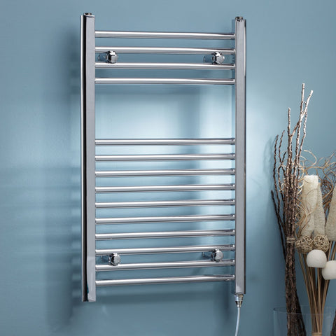 Kartell K-Rad Electric Chrome Heated Towel Rail - Curved Thermostatic