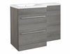 Kartell K-Vit Matrix 2 Drawer L Shaped Furniture Pack 1100mm - Grey Ash Left Hand
