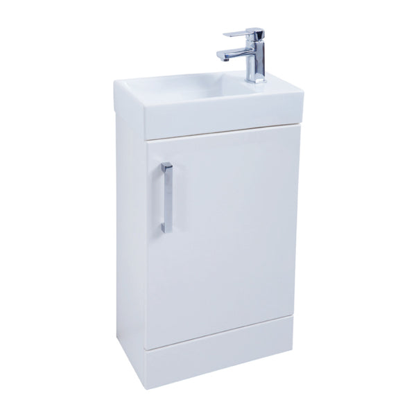 Kartell K-Vit Liberty 450mm Floor Standing Vanity Unit & Basin - White