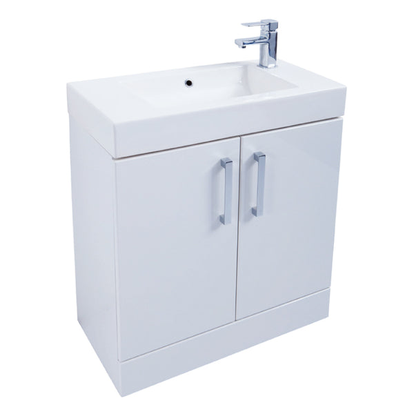 Kartell K-Vit Liberty 700mm Floor Standing Vanity Unit & Basin - White