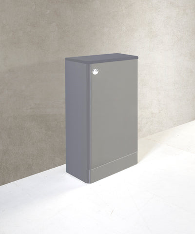 Kartell K-Vit Options 500mm WC Unit & Cistern - Basalt Grey