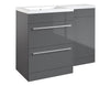 Kartell K-Vit Matrix 2 Drawer L Shaped Furniture Pack 1100mm - Grey Gloss Left Hand