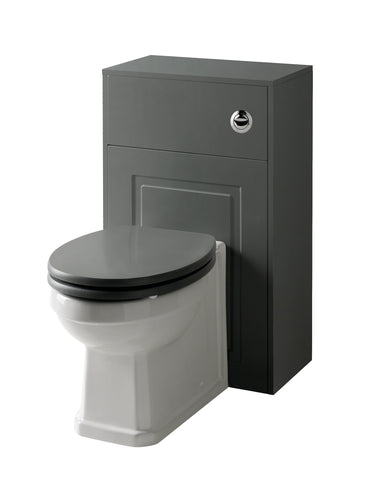Kartell K-Vit Astley 500mm WC Unit Set - Matt Grey