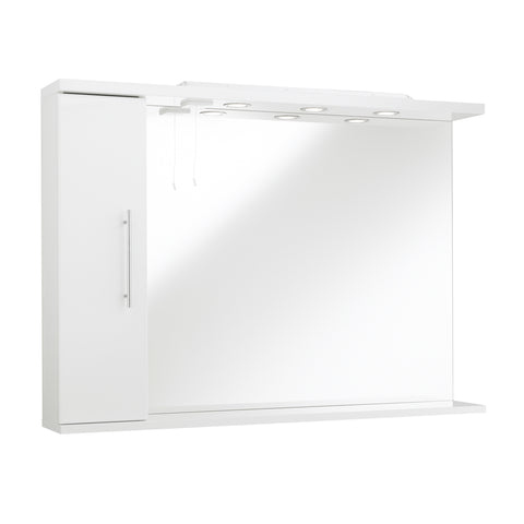 Kartell K-Vit Impakt 850mm Mirror With Side Cabinet & Lights