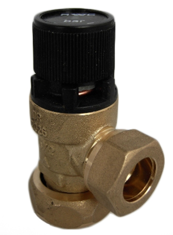 "KBS014 - 8 Bar Pressure Relief Valve - 15mmx3/4"" Captive Nut - Kent Plumbing Supplies"