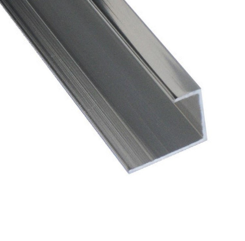 K-Vit PVC Wall Panel Trim - End Cap Aluminium Chrome - Kent Plumbing Supplies