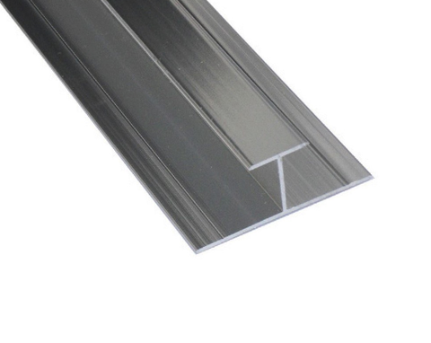 K-Vit PVC Wall Panel Trim - H Joint Aluminium Chrome - Kent Plumbing Supplies