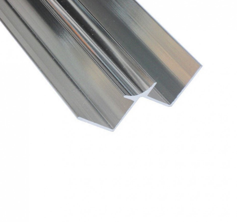 K-Vit PVC Wall Panel Trim - Internal Winged Corner Aluminium Chrome - Kent Plumbing Supplies