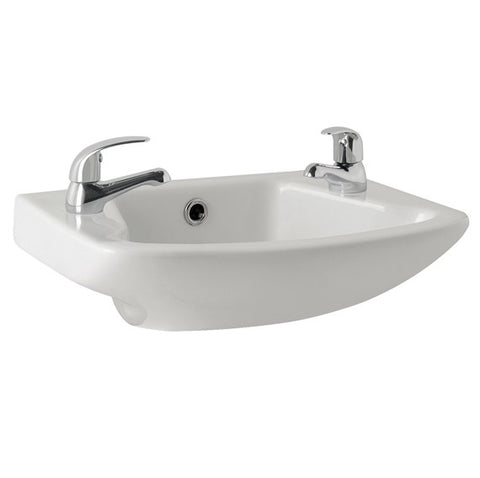 K-Vit G4K 465MM 2TH Cloakroom Basin - Kent Plumbing Supplies