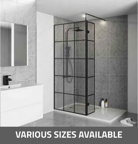 K-Vit Krittal Wet Room Screen - Kent Plumbing Supplies