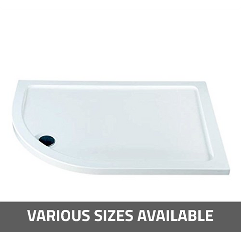 K-Vit Low Profile Offset Quadrant Shower Tray - Kent Plumbing Supplies