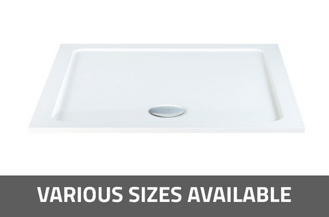 K-Vit Low Profile Rectangle Shower Tray - Kent Plumbing Supplies