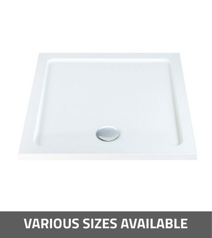 K-Vit Low Profile Square Shower Tray - Kent Plumbing Supplies