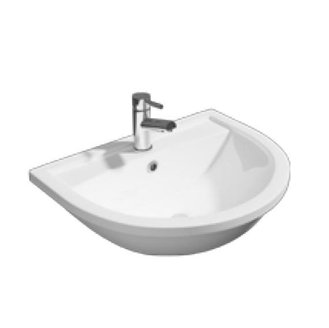 K-Vit Lifestyle 520mm 1TH Semi Recessed Basin - Kent Plumbing Supplies