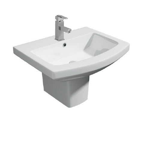 K-Vit Trim 550mm 1TH Basin & Semi Pedestal