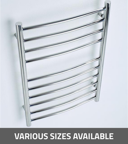 Kartell K-Rad Orlando Curved Vertical Radiator - Stainless Steel
