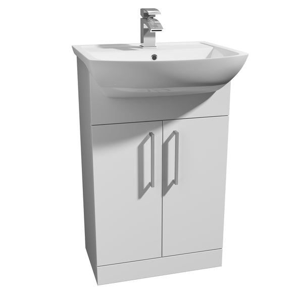 Kartell K-Vit Pure 550mm Floor Standing 2 Door Vanity Unit & Basin