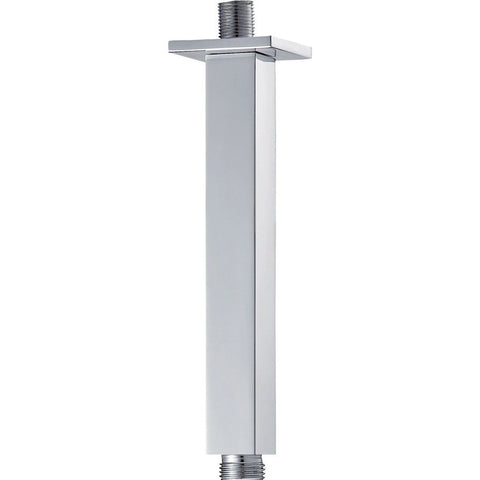 Pura Brass Square Ceiling Mounted Fixed Shower Arm 200mm KI032A - Kent Plumbing Supplies