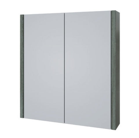 K-Vit Purity 750mm Mirror Cabinet - Grey Ash