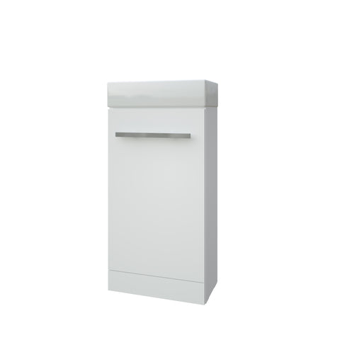K-Vit Purity 410mm Floor Standing Cloakroom Vanity Unit & Basin - White - Kent Plumbing Supplies