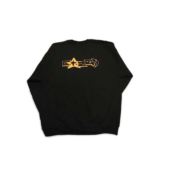BLACK AND GOLD CREWNECK