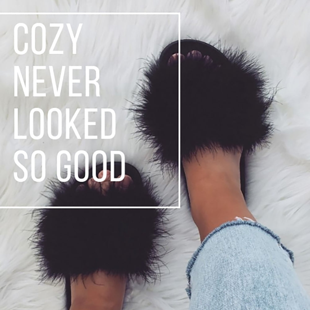 New Arrivals..... Faux and Real Fur Slides and Slippers