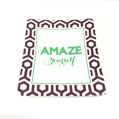 Two's Company Ceramic Tray: 'Amaze Yourself'
