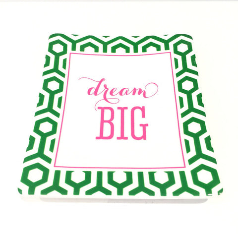 Two's Company Ceramic Tray: 'Dream Big'
