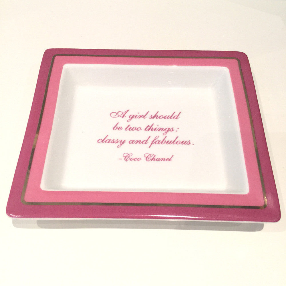Two's Company Ceramic Tray: 'A Girl Should Be Two Things: Classy And Fabulous