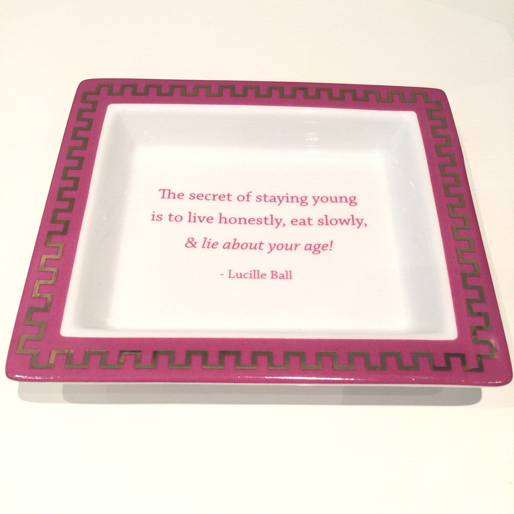 Two's Company Ceramic Tray: 'The Secret Of Staying Young Is To Live Honestly, Eat Slowly And Lie About Your Age'