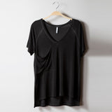 Z Supply Rookie V Neck Tee Charcoal