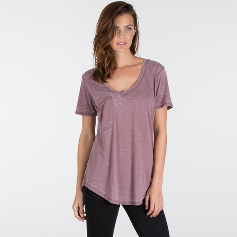 Z Supply The Pocket Tee Faded Burgundy