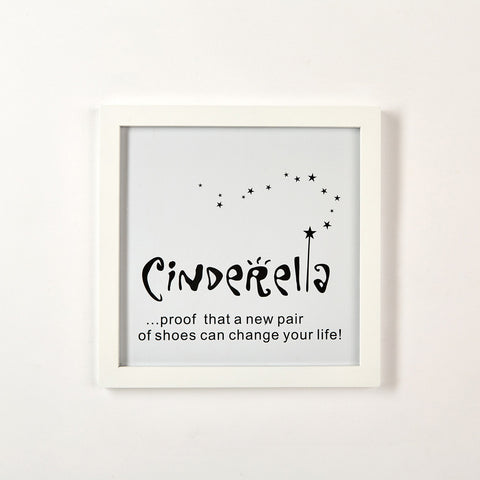 "Two's Company Gallery Wall Art ""CinderellaÉProof That A New Pair Of Shoes"""