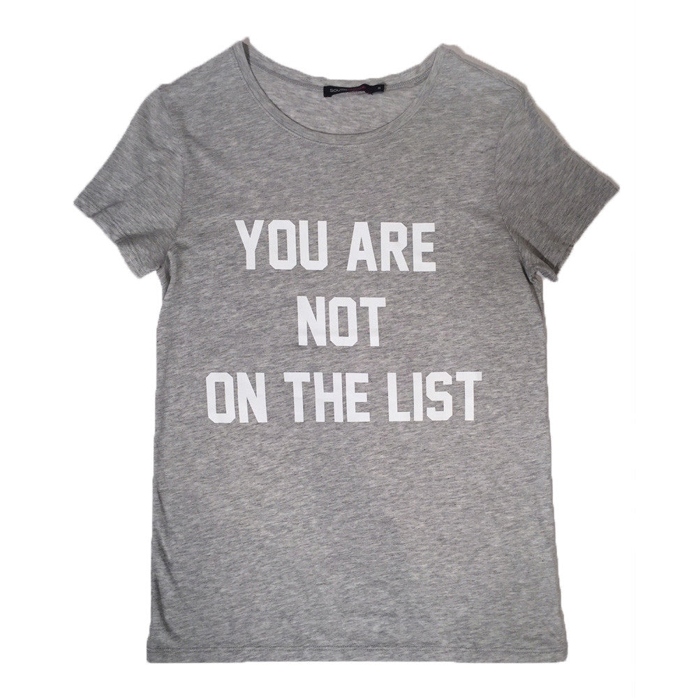 "South Parade ""You Are Not On The List"" Crewneck Tee Shirt"