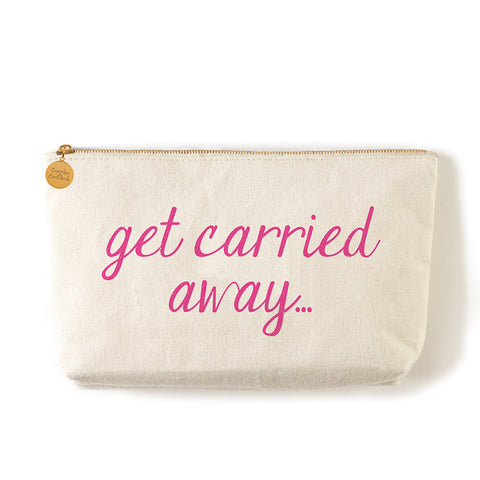 "Two's Company Zippered Small Coin Pouch ""Get Carried Away"""