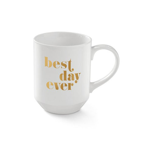 "Pastel Porcelain Mug ""Best Day Ever"""