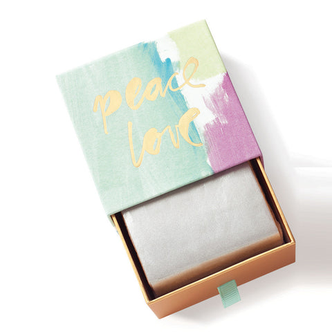 "Fringe Luxury Triple Milled Boxed Soap ""Peace Love"""